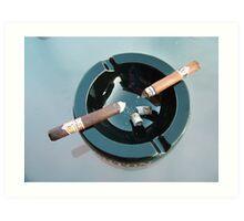 CAO cigar break Art Print
