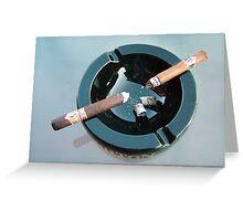 CAO cigar break Greeting Card