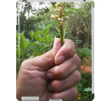 Flowers Bud in Hand iPad Case/Skin
