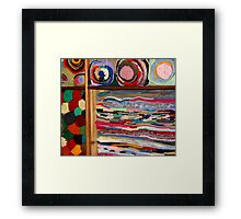 Beaconsfield mine disaster knitted scarves. Framed Print