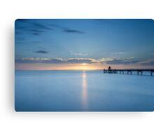 Summer Sunset at Clevedon Pier Canvas Print