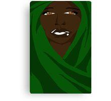 Emerald Shawl Canvas Print
