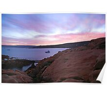 Morning Glory- sunrise at Canal Rocks Poster