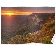 The Awakening  - Grose Valley, Blue Mountains World Heritage Area  - The HDR Experience Poster