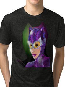 Purple Kitty Tri-blend T-Shirt