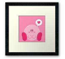 Kirby Loves You! Framed Print