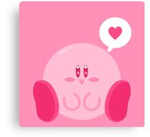 Kirby Loves You! Canvas Print