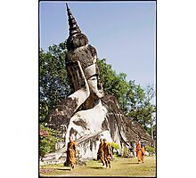 'Walking: Buddha Park.' Luang Prabang, Laos (Color) Photographic Print
