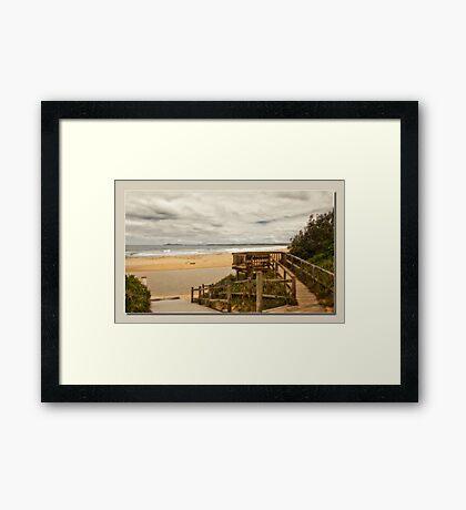 saltwater lookout Framed Print