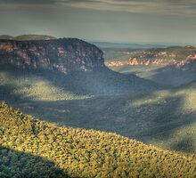 Shadows & Light - Grose Valley, Blue Mountains World Heritage Area - The HDR Experience by Philip Johnson