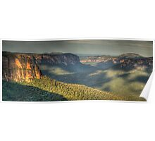 Shadows & Light - Grose Valley, Blue Mountains World Heritage Area - The HDR Experience Poster