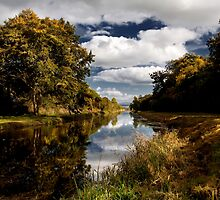 Autumn Light, Grand Canal, Co Kildare, Ireland. by 2cimage