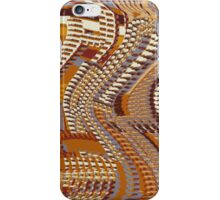 Windy City Abstract in Warm Colors iPhone Case/Skin