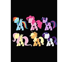 My Little Pony Friendship is Magic: Silhouette Art Photographic Print