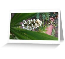 Triangle Flowers Greeting Card