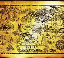 Hyrule Map Legend of Zelda by knollgilbert