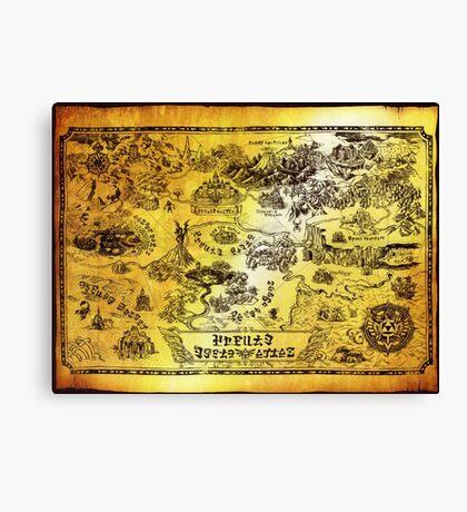 Hyrule Map Legend of Zelda Canvas Print
