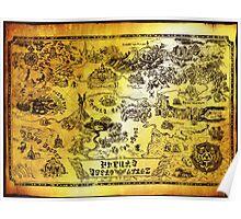 Hyrule Map Legend of Zelda Poster