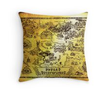 Hyrule Map Legend of Zelda Throw Pillow