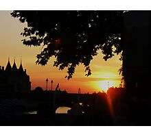 CROWDED SUNSET IN PARIS Photographic Print