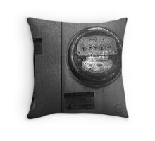 Warning : do not tamper with this meter: (Trailer Park America series)  Throw Pillow