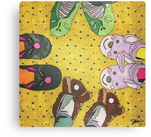 Slippers Canvas Print