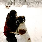 """Playing in the Snow by Christine """"Xine"""" Segalas"""