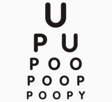 U POO Eye Test Chart by BERLII
