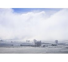 A Blue Sky Promise Over Snowy Countryside Photographic Print