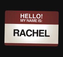 NAMETAG TEES - RACHEL by webart