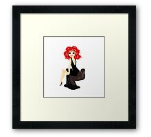 Smiling Girl Framed Print