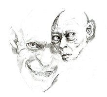 Gollum study by Sally O'Dell