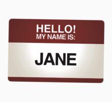 NAMETAG TEES - JANE by webart