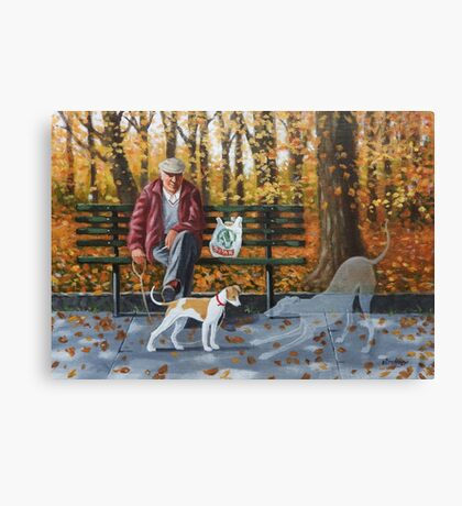 She's a lovely pup, plays on her own for hours.. Canvas Print