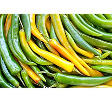 Green hot pepper chile Photographic Print