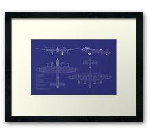 Avro Lancaster Bomber Blueprint Framed Print