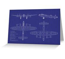 Avro Lancaster Bomber Blueprint Greeting Card