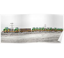 Trained Deere Poster