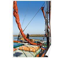 Thames Barges on Maldon Estuary, Essex Poster