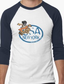 usa new york tshirt by rogers bros co Men's Baseball ¾ T-Shirt