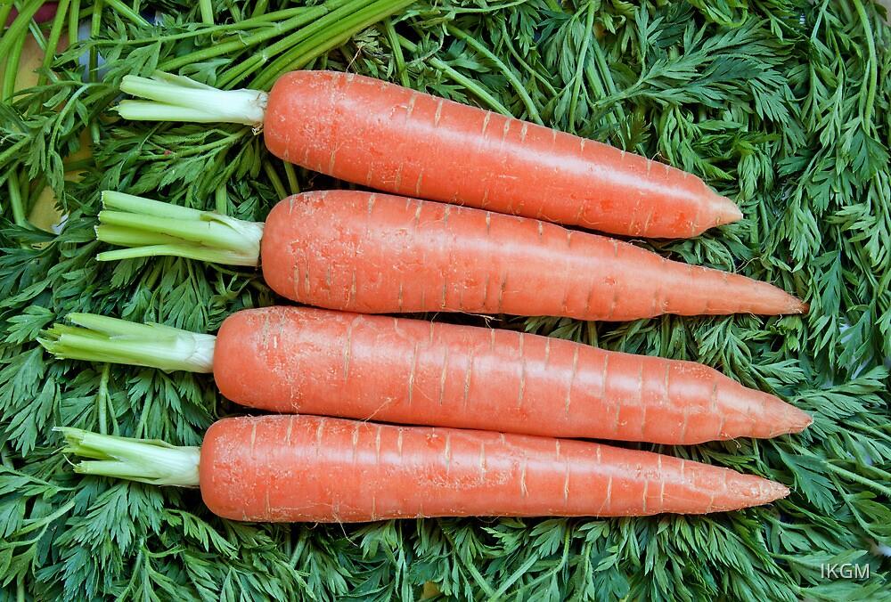 Fresh ripe raw carrot  by IKGM