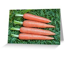 Fresh ripe raw carrot  Greeting Card