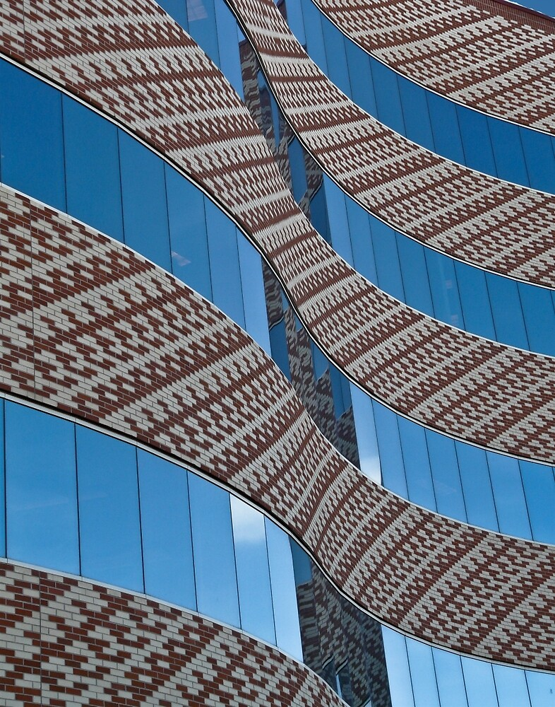 Swirl of bricks and glass by Linda Sparks