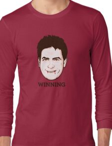 Charlie Sheen - Faces Of Awesome Long Sleeve T-Shirt