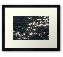 Now & Then Mother Nature Likes to Wear a Little Bling.. Framed Print