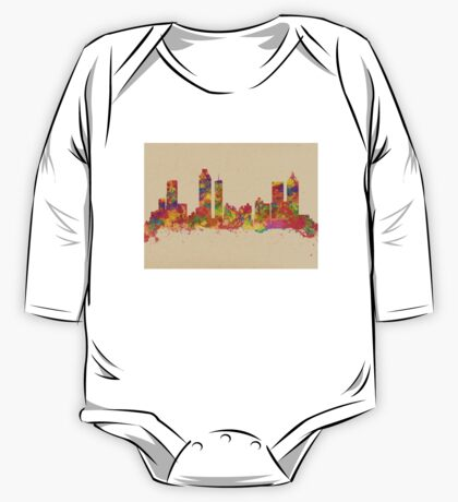 Skyline of Atlanta Georgia USA One Piece - Long Sleeve
