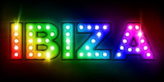 Ibiza in Lights by Michael Tompsett