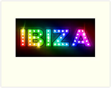 Ibiza in Lights by ArtPrints
