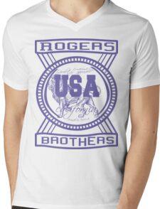 usa california hoodie by rogers bros co Mens V-Neck T-Shirt