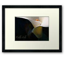 Calla Fornia Framed Print